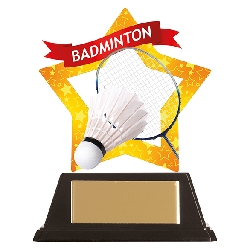 Mini-Star Badminton Acrylic Plaque