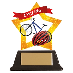Mini-Star Cycling Acrylic Plaque