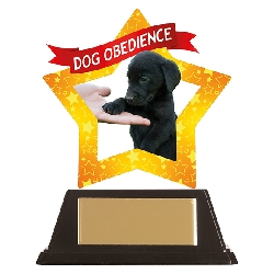 Mini-Star Dog Obedience Acrylic Plaque