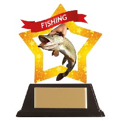 Mini-Star Fishing Acrylic Plaque