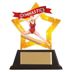 Mini-Star Gymnastics Acrylic Plaque Female