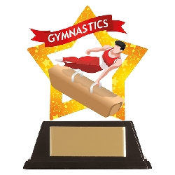 Mini-Star Gymnastics Acrylic Plaque Male
