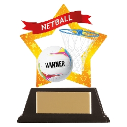 Mini-Star Netball Acrylic Plaque