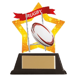 Mini-Star Rugby Acrylic Plaque
