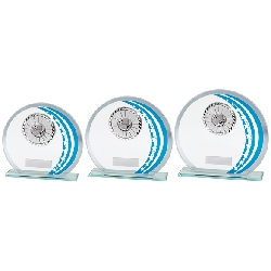 Galactic Multisport Glass Award Blue & Silver