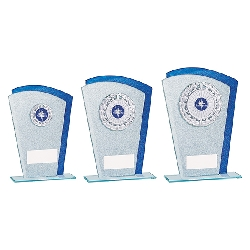 Polaris Glitter Glass Award Silver & Blue