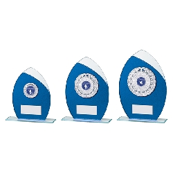 Draco Glitter Glass Award Blue