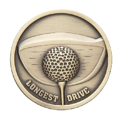 Links Series Longest Drive Golf Medal