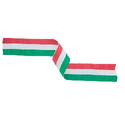 Medal Ribbon Green, White & Red