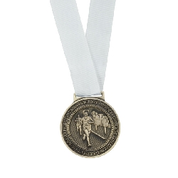Olympia Medal Ribbon Stitched White