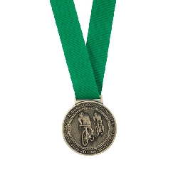 Olympia Medal Ribbon Stitched Green