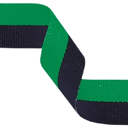 Medal Ribbon Green & Black