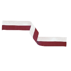 MR29,Medal Ribbon Maroon & White