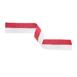 Medal Ribbon Red & White 395x22mm