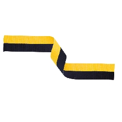Medal Ribbon Black & Gold 395x22mm