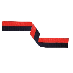 Medal Ribbon Black & Red 395x22mm