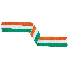 Medal Ribbon Green White & Orange 395x22mm