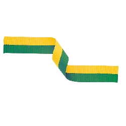 Medal Ribbon Green & Gold 395x22mm