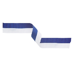 Medal Ribbon Blue & White 395x22mm