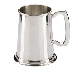 The Commodore English Pewter Tankard   1pt