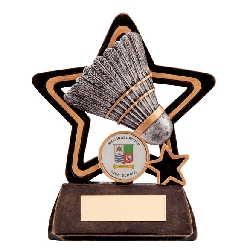 Little Star Badminton Plaque