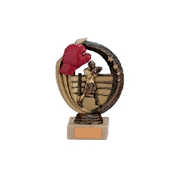 Renegade Boxing Legend Award Antique Bronze & Gold