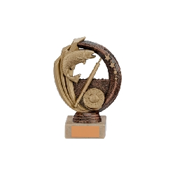 Renegade Fishing Legend Award Antique Bronze & Gold