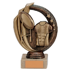 Renegade Rugby Legend Award Antique Bronze & Gold