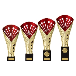 All Stars Premium Rapid Trophy Gold & Red