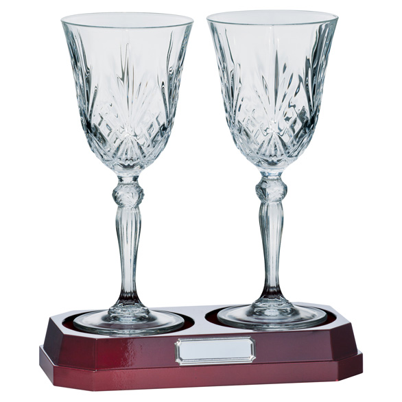 Lindisfarne St Joseph Crystal Wine Glasses