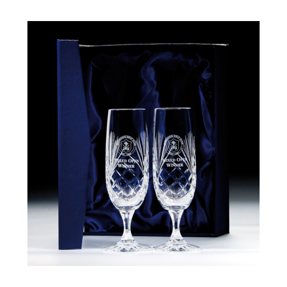 Lindisfarne Orco Crystal Champagne Glasses