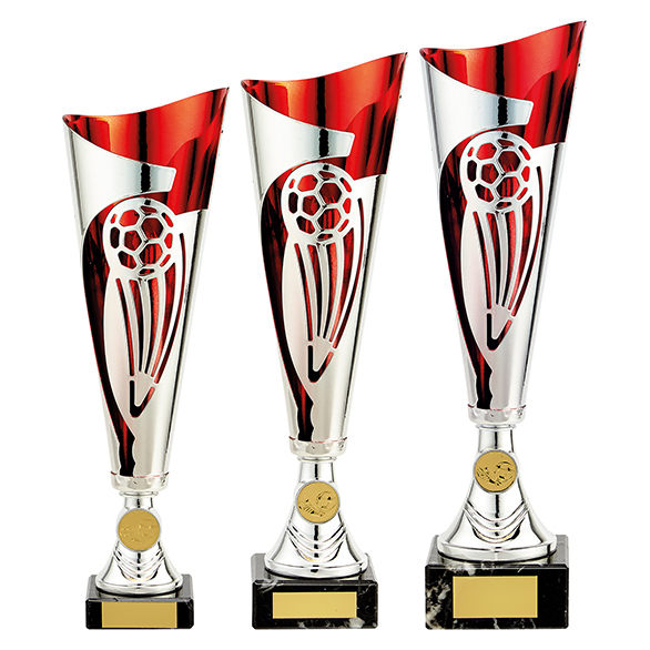Champions Football Cup Silver & Red